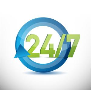 24-7 bereikbaar