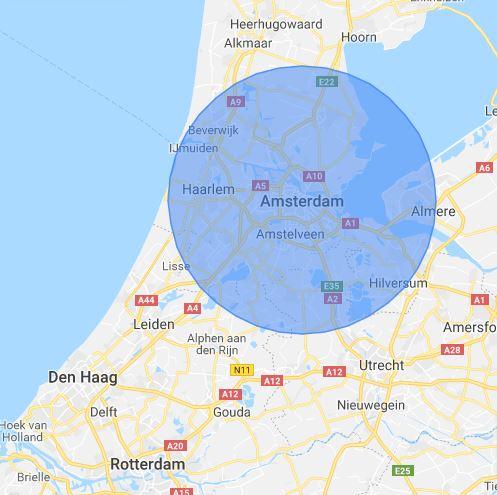 Werkgebied Slotenmaker Amsterdam